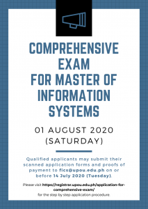 MIS Comprehensive Exam _ 01 August 2020