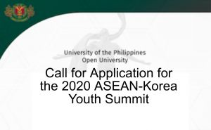 Call for Application for the 2020 ASEAN-Korea Youth Summit
